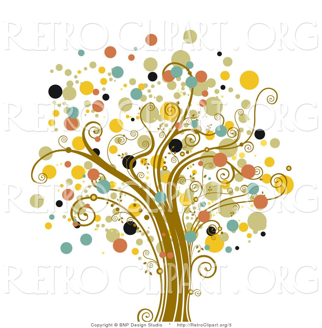 Dot tree dot tree clipart picture library stock Tree Of Life Art | Vector Retro Clipart of a Tree of Dots | Tree of ... picture library stock