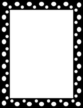 Polka dot border clipart black and white banner royalty free stock This is for 12 different polka dot page frames. The files can be ... banner royalty free stock