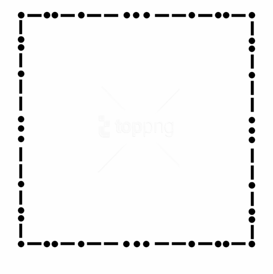 Dotted border clipart royalty free library Dot Border Png - Dashed Border Black And White, Transparent Png ... royalty free library