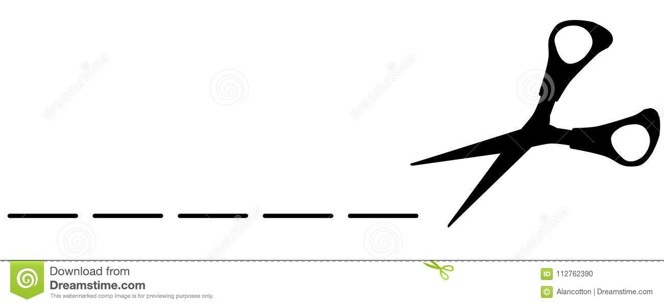 Dotted line with scissors clipart png black and white Clipart scissors cutting dotted line 1 » Clipart Portal png black and white