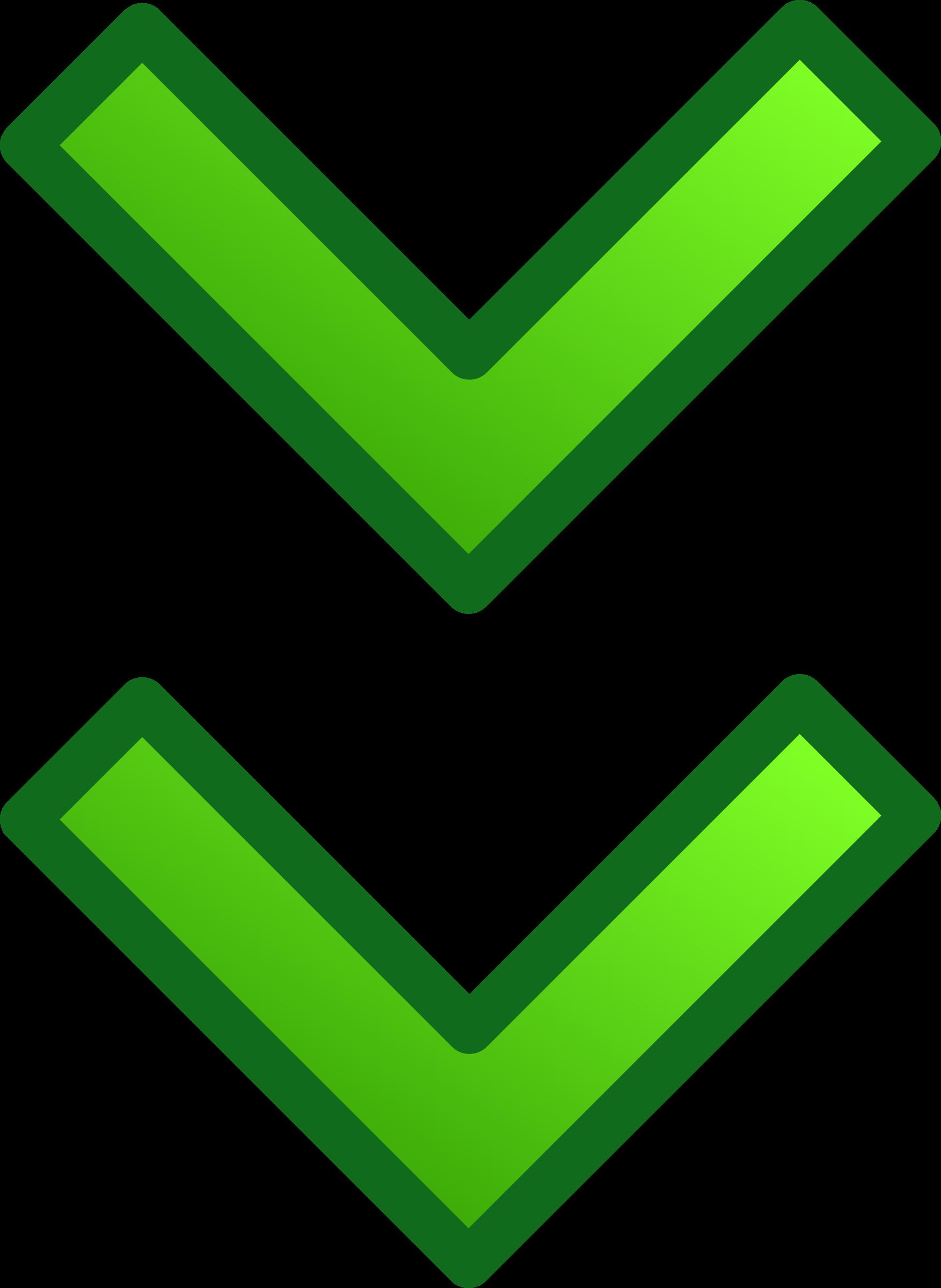 Double arrow clipart clip art transparent download Clipart - green double arrows set clip art transparent download