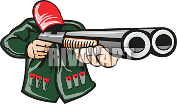 Double barrel shotgun clipart svg transparent library Hunter with double barrel gun | Clipart Panda - Free Clipart Images svg transparent library