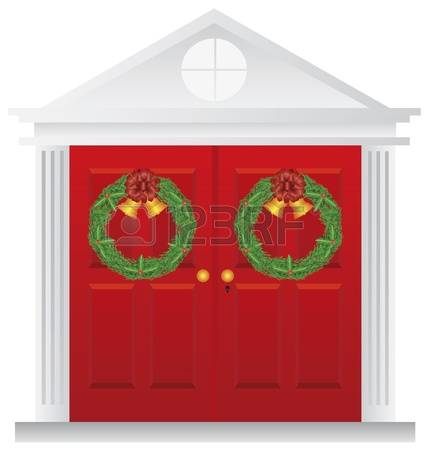 Double door clipart vector stock 860 Double Doors Stock Vector Illustration And Royalty Free Double ... vector stock