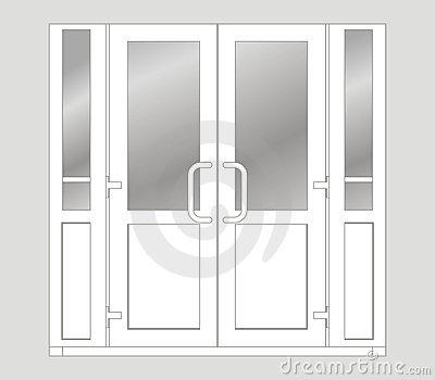 Double door clipart picture transparent library Double Door Clipart - Clipart Kid picture transparent library