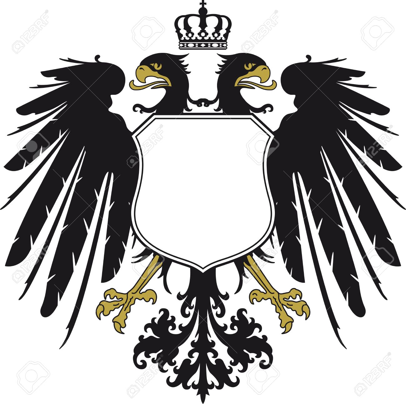Double eagle clipart png freeuse Double-headed Eagle With Crown Royalty Free Cliparts, Vectors, And ... png freeuse
