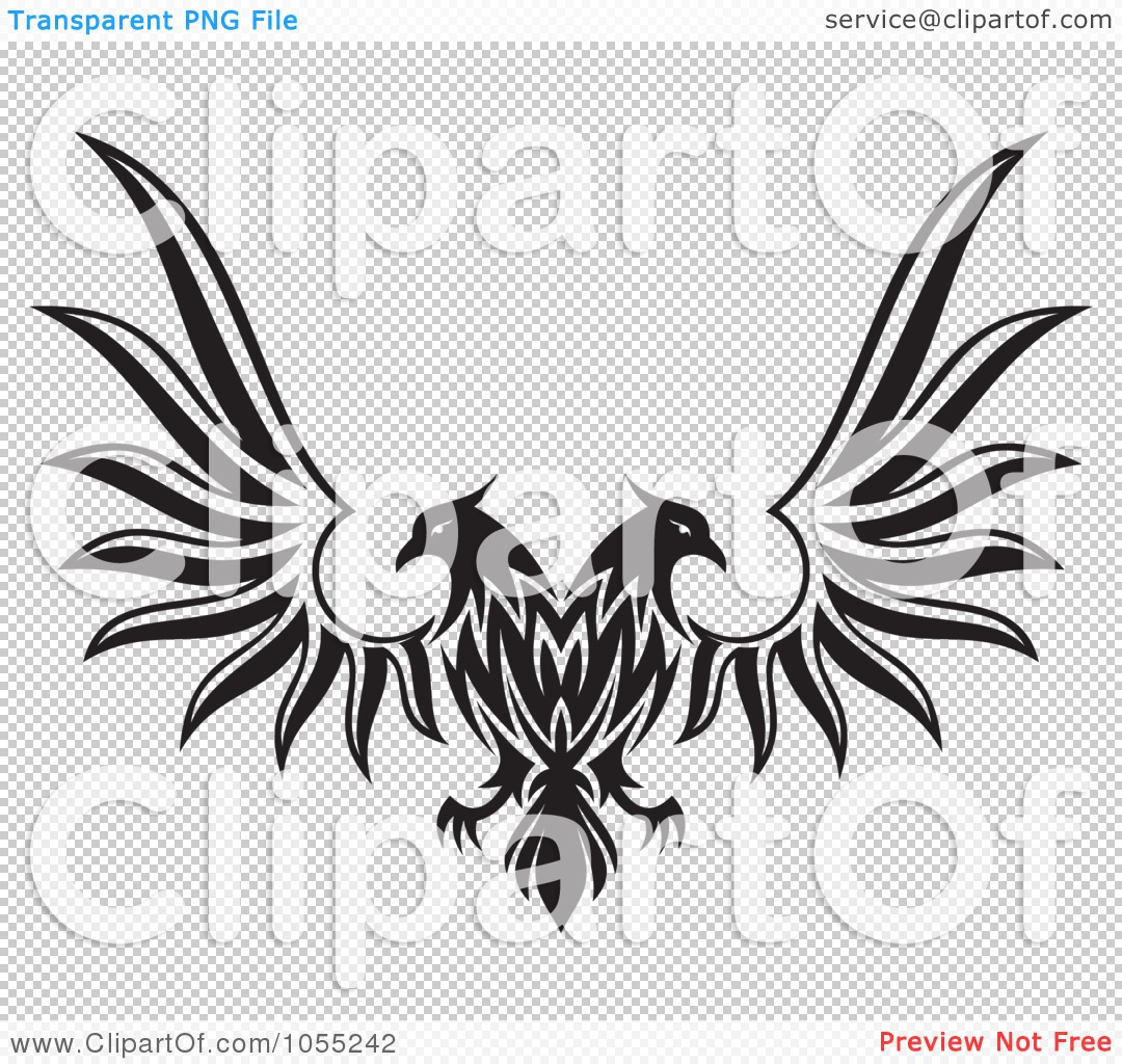Double eagle clipart clip free download Royalty-Free Vector Clip Art Illustration of a Black And White ... clip free download