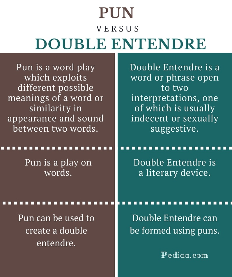 Difference Between Pun and Double Entendre vector royalty free library