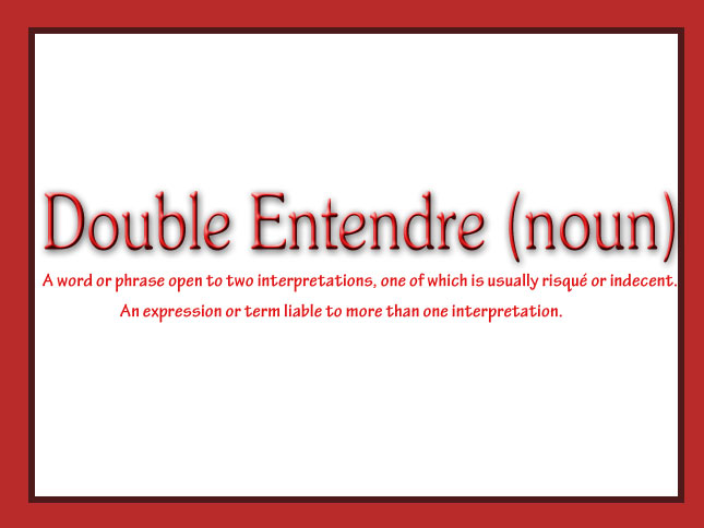 Double entendre image royalty free stock Double Entendre.   360Nobs.com image royalty free stock