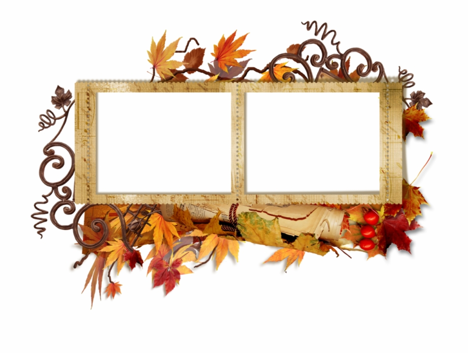 Double frame clipart clip black and white Double Transparent Autumn Frame - Wedding Photo Frame Png Hd Free ... clip black and white