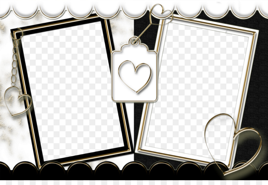 Double frame clipart clip art black and white library Love Background Frame png download - 1040*698 - Free Transparent ... clip art black and white library