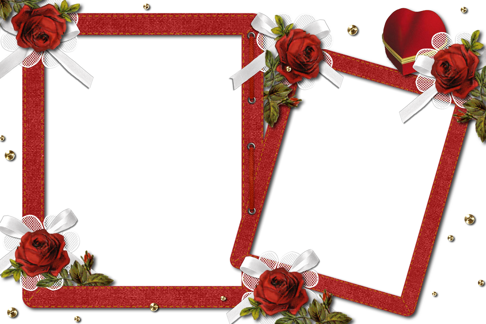 Double frame clipart png black and white library Double Romantic Transparent Photo Frame with Roses | Gallery ... png black and white library