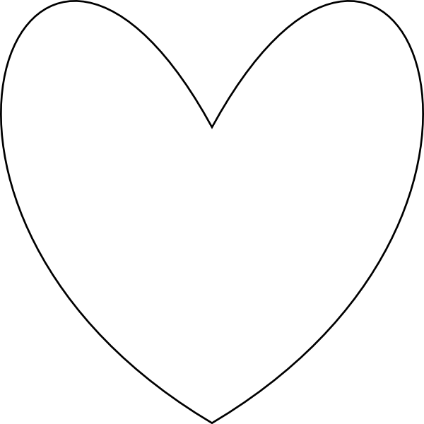 Double heart clipart black and white transparent download Heart Outline Clip Art at Clker.com - vector clip art online ... transparent download