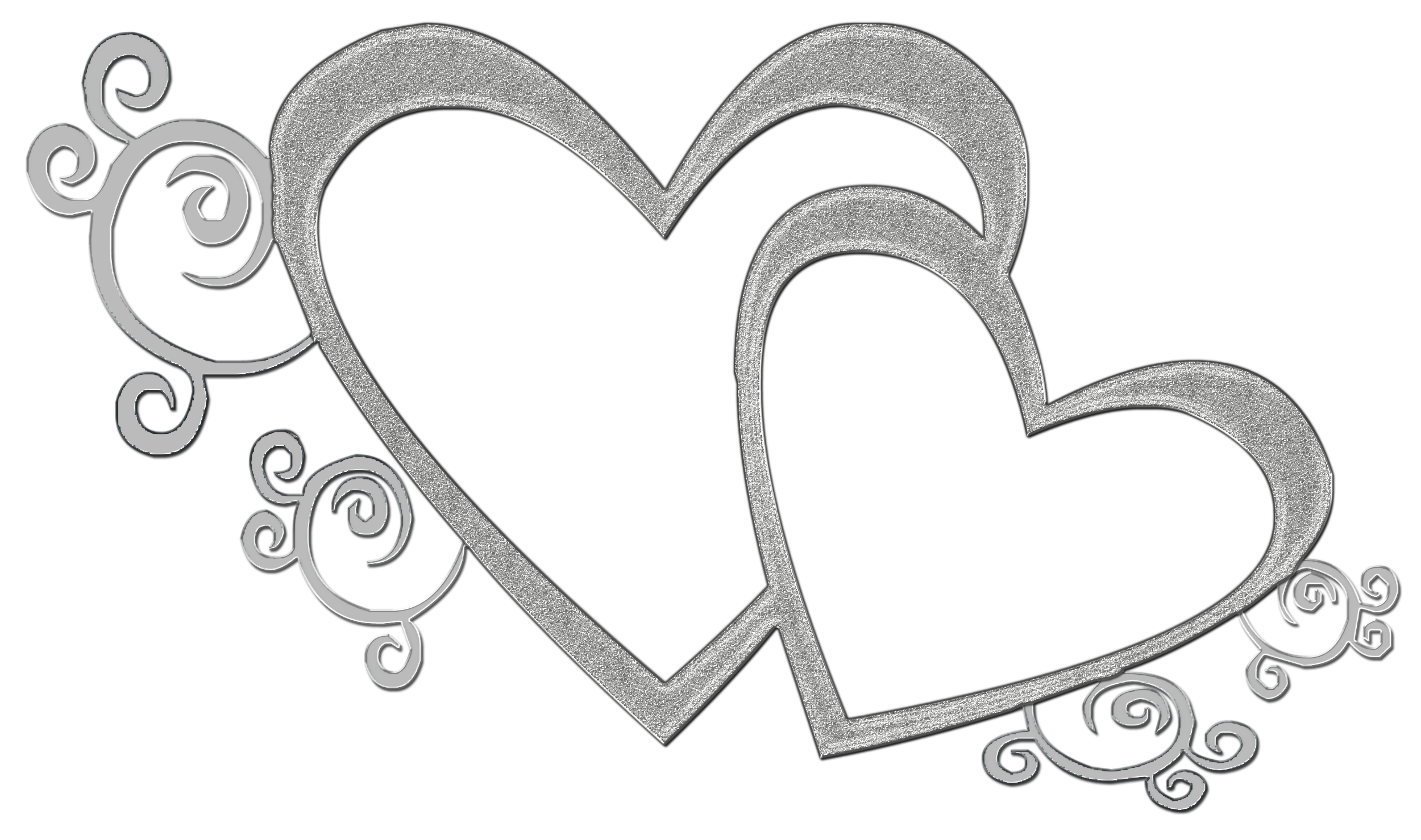 Wedding heart clipart banner black and white library Double heart wedding clipart - ClipartFest banner black and white library