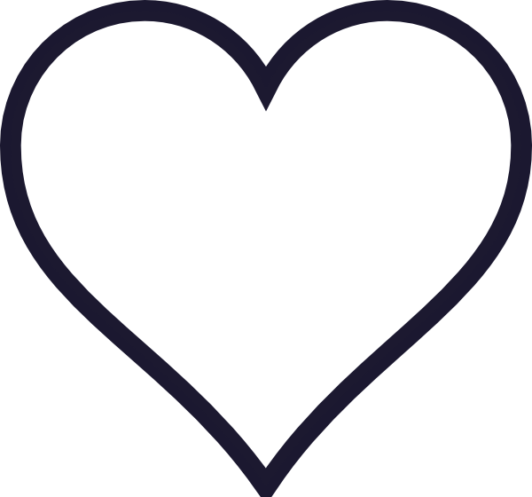 Navy heart clipart png black and white Heart Outline Clipart | Free download best Heart Outline Clipart on ... png black and white