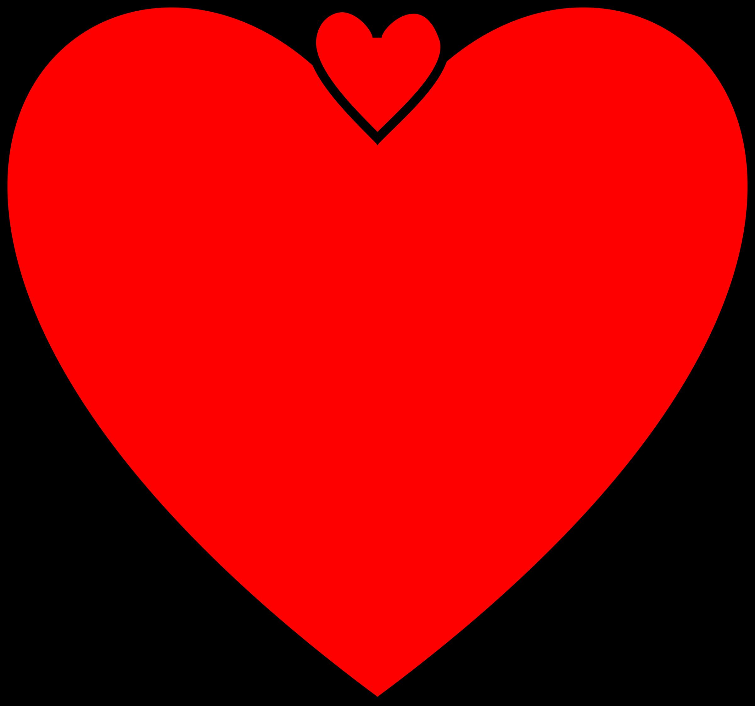 Double hearts clip art clip transparent library Clipart - Double Heart V clip transparent library