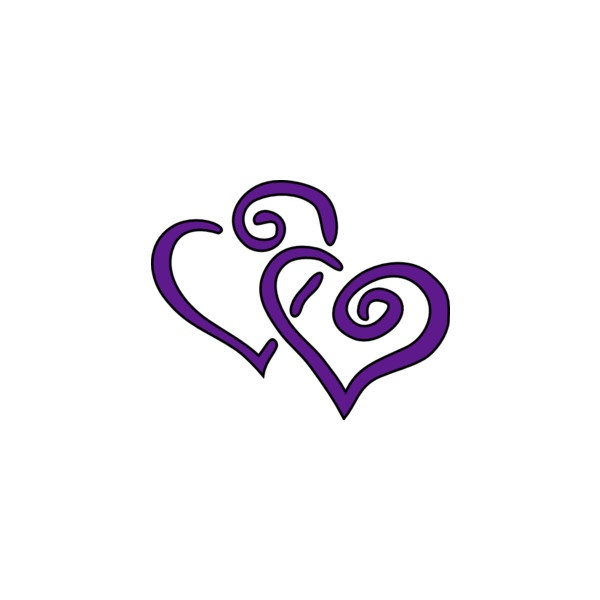 Double hearts wedding clipart clip Purple Heart Wedding Clipart - Clipart Kid clip
