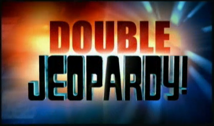 Double jeopardy black and white library Image - Jeopardy! 2003-2004 Double Jeopardy! title card.png | Game ... black and white library