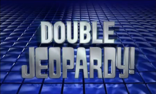 Double jeopardy graphic black and white library Image - Double Jeopardy! -25.png | Game Shows Wiki | Fandom ... graphic black and white library