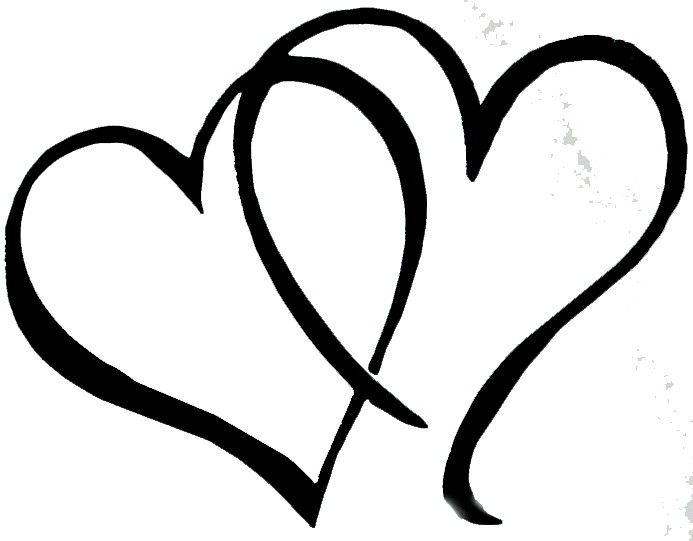 Double line open heart clipart black and white vector free stock Pick any of the double heart art from our huge collection and use it ... vector free stock