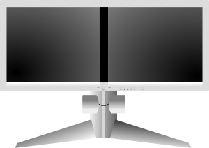Double monitor clipart jpg freeuse Double monitor clipart - ClipartFest jpg freeuse
