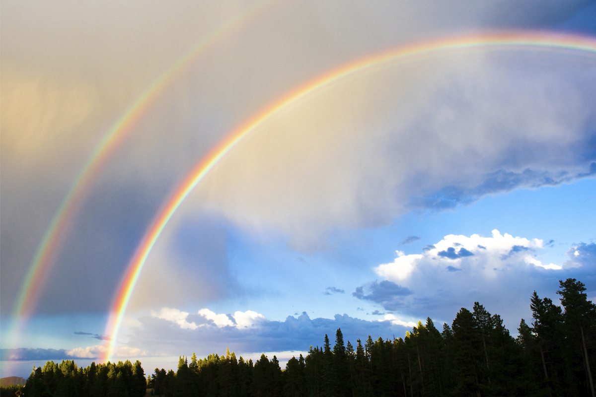 Double rainbow clip art free library How rare are double rainbows? | HowStuffWorks clip art free library