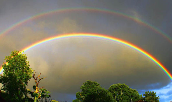 Double rainbow png free library Pictures of summer: A double rainbow and a chamomile lawn | UK ... png free library