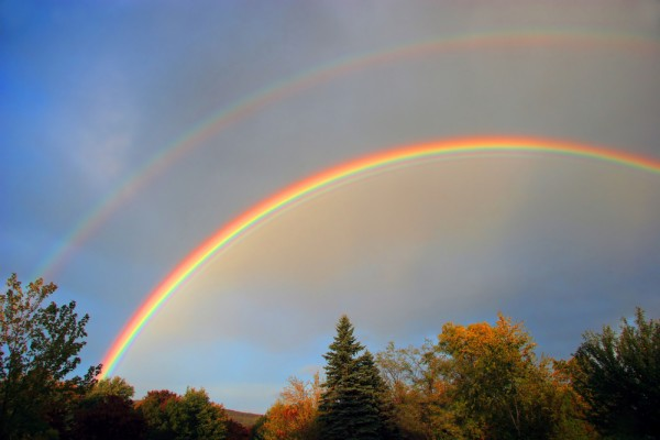 Double rainbow jpg black and white stock How to find more double rainbows in everyday life with Debs ... jpg black and white stock