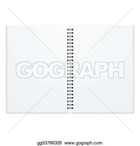Double ring clipart png black and white Stock Illustration - Double ring binder. Clipart gg53766326 - GoGraph png black and white