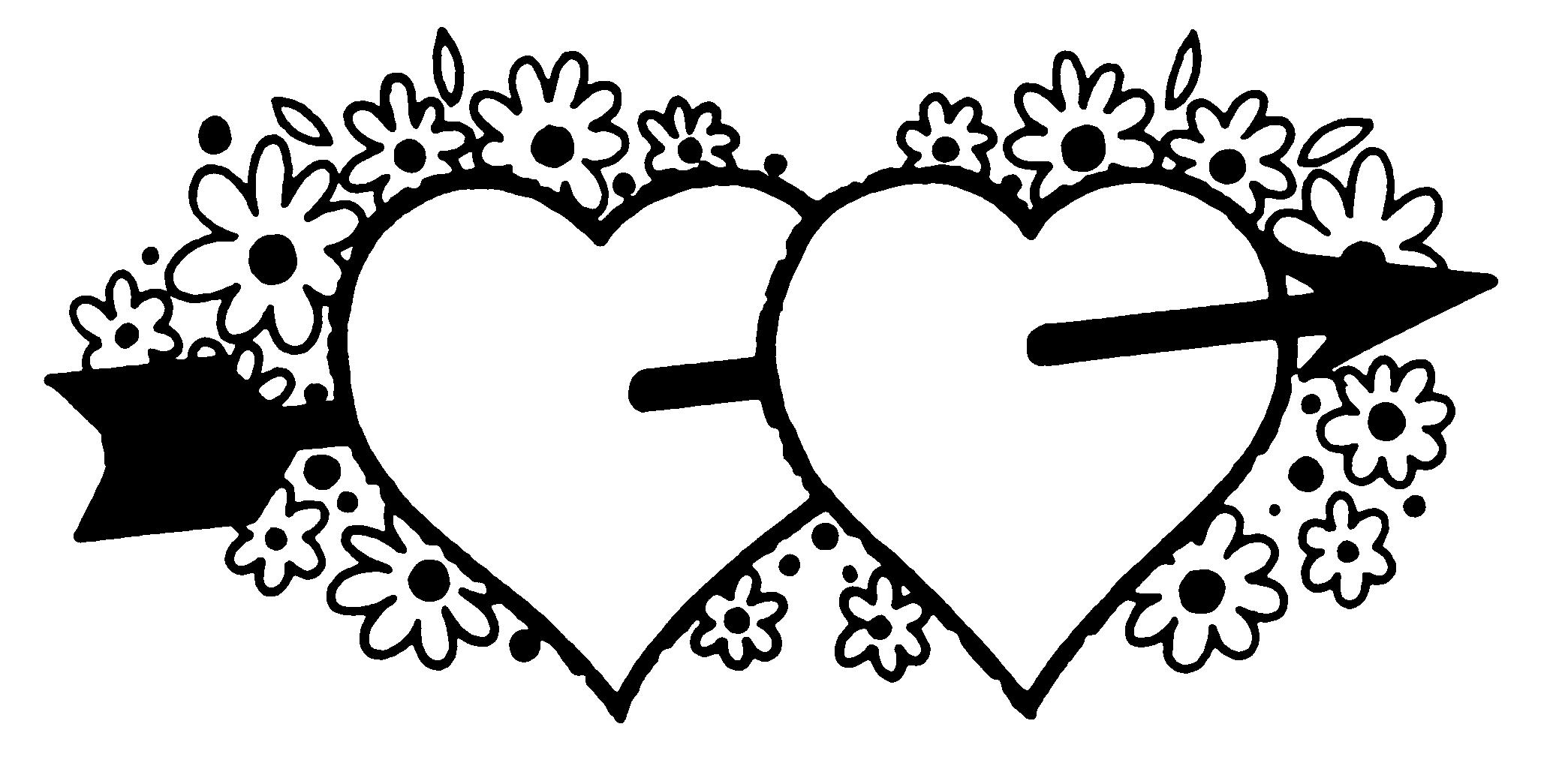 Valentine s clipart black & white banner download Heart Banner Clipart Black And White banner download