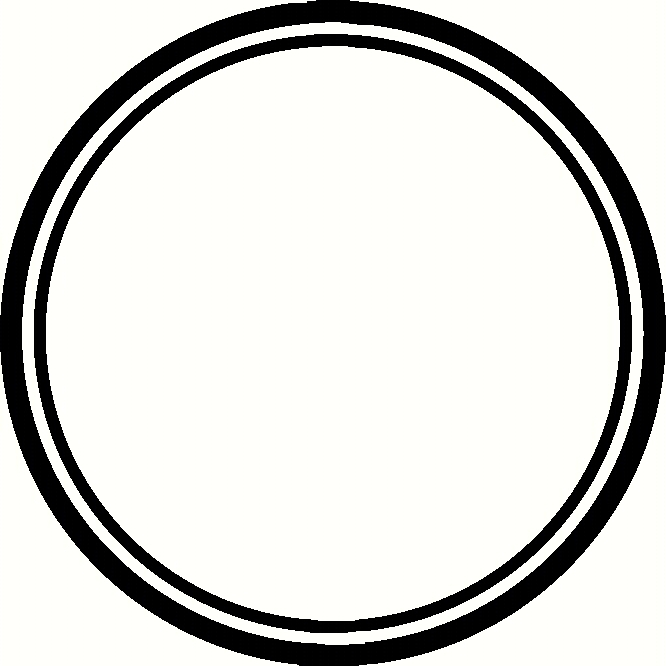 Double row banner clipart black and white image library stock Circle Clipart Black And White | Free download best Circle Clipart ... image library stock