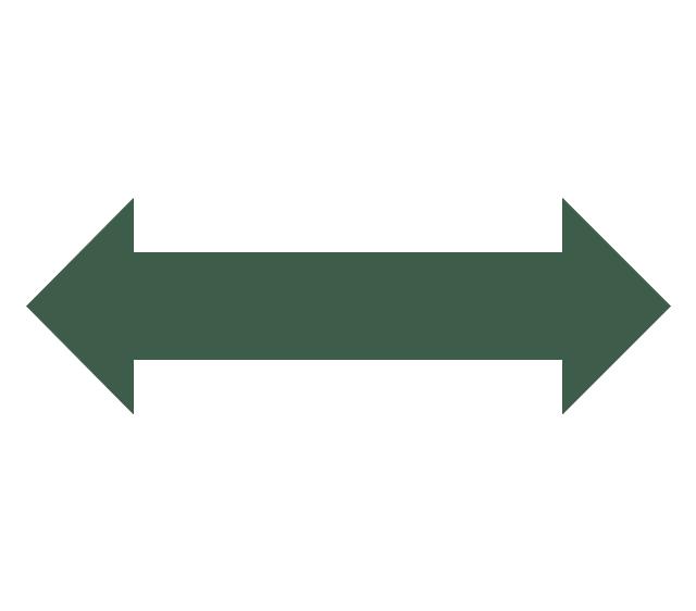 Double side arrow clipart jpg black and white stock Circular Arrows Diagrams | Sales arrows - Vector stencils library ... jpg black and white stock