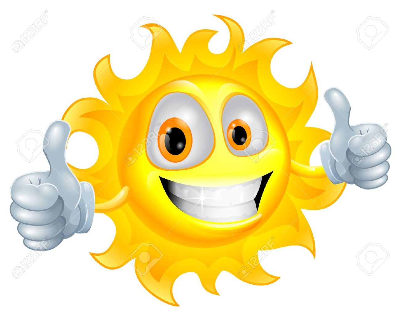 Double thumbs up clipart clip royalty free stock A Sun Cartoon Mascot Giving A Double Thumbs Up Royalty Free ... clip royalty free stock
