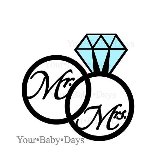 Double wedding rings clipart picture freeuse download WEDDING RINGS svg files - digital files - circut - cuttables - clip ... picture freeuse download