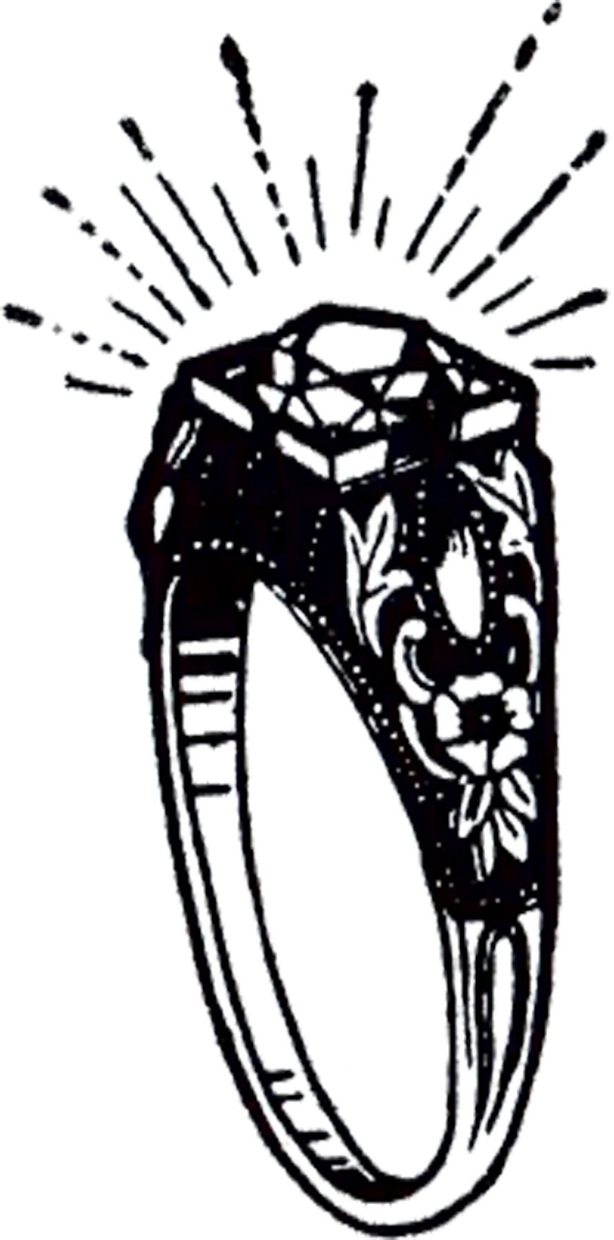 Double wedding rings clipart free image royalty free stock Free Clip art of Wedding Rings Clipart Black and White #2996 Best ... image royalty free stock