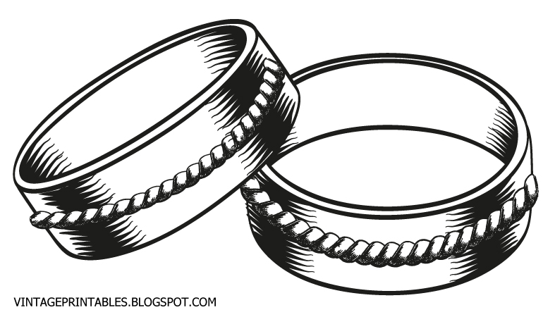Double wedding rings clipart free clipart black and white Wedding rings images clip art - ClipartFox clipart black and white