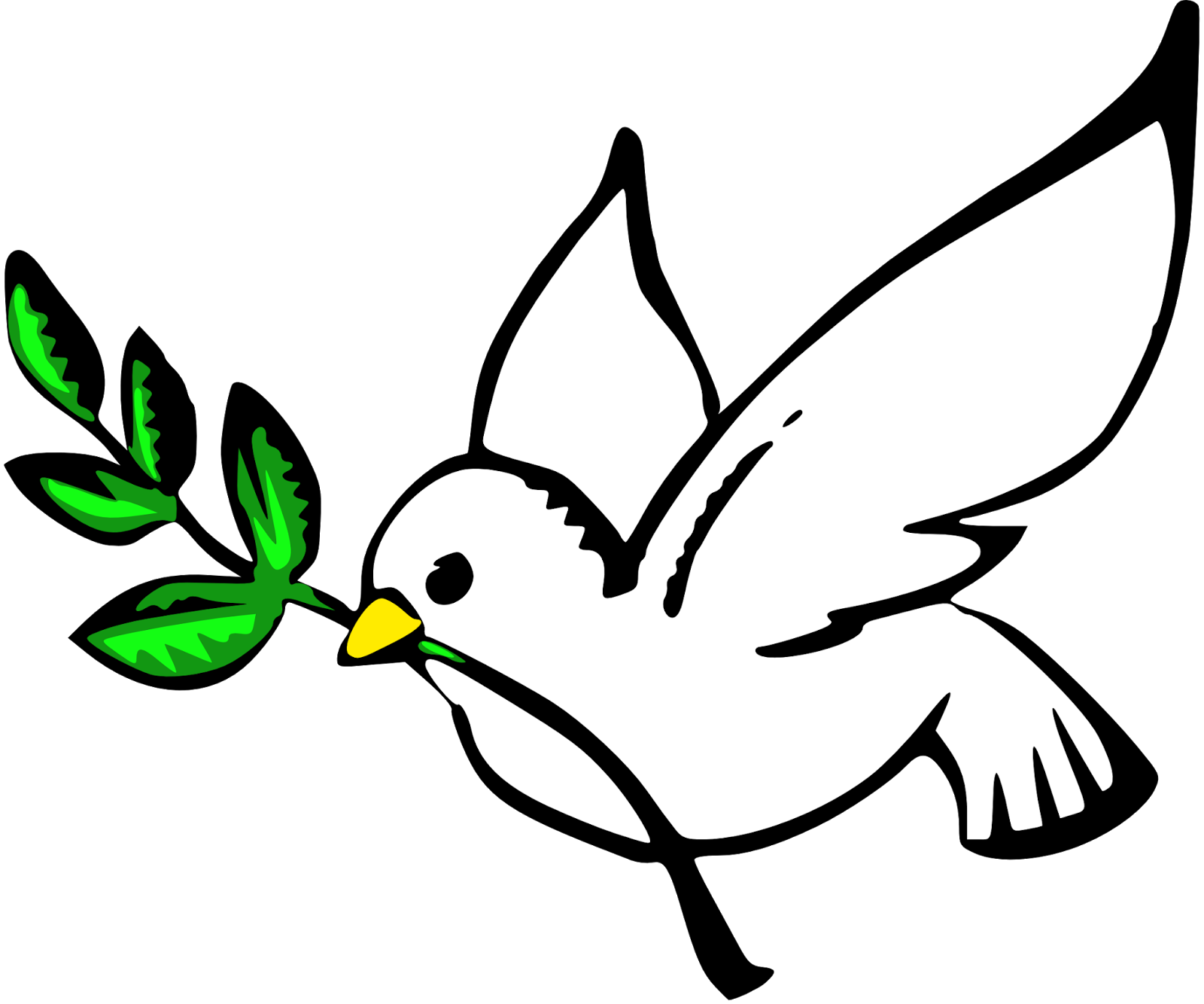 Dove and heart clipart jpg black and white Everyday Fact of life: Why doves are a symbol of peace | dove ... jpg black and white
