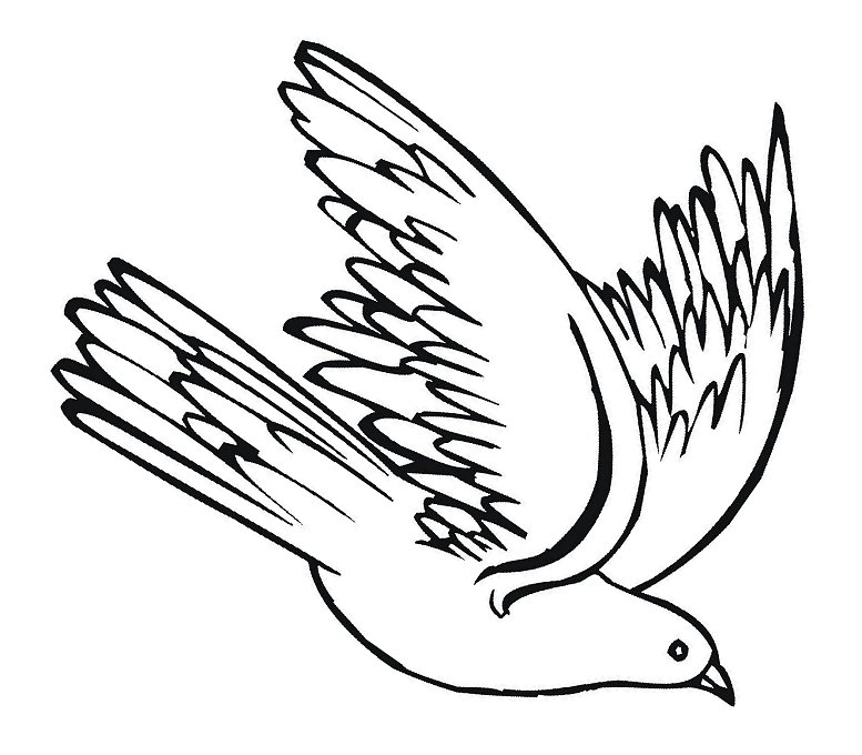 Dove come down black and white clipart picture free library Free Holy Spirit Clipart, Download Free Clip Art, Free Clip Art on ... picture free library