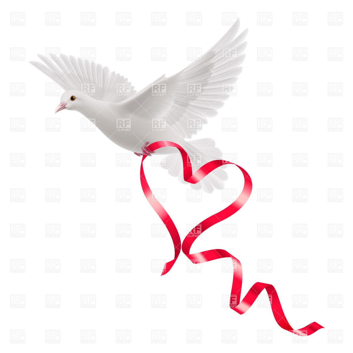 Dove ribbon clipart banner transparent stock Dove with ribbon clipart » Clipart Station banner transparent stock