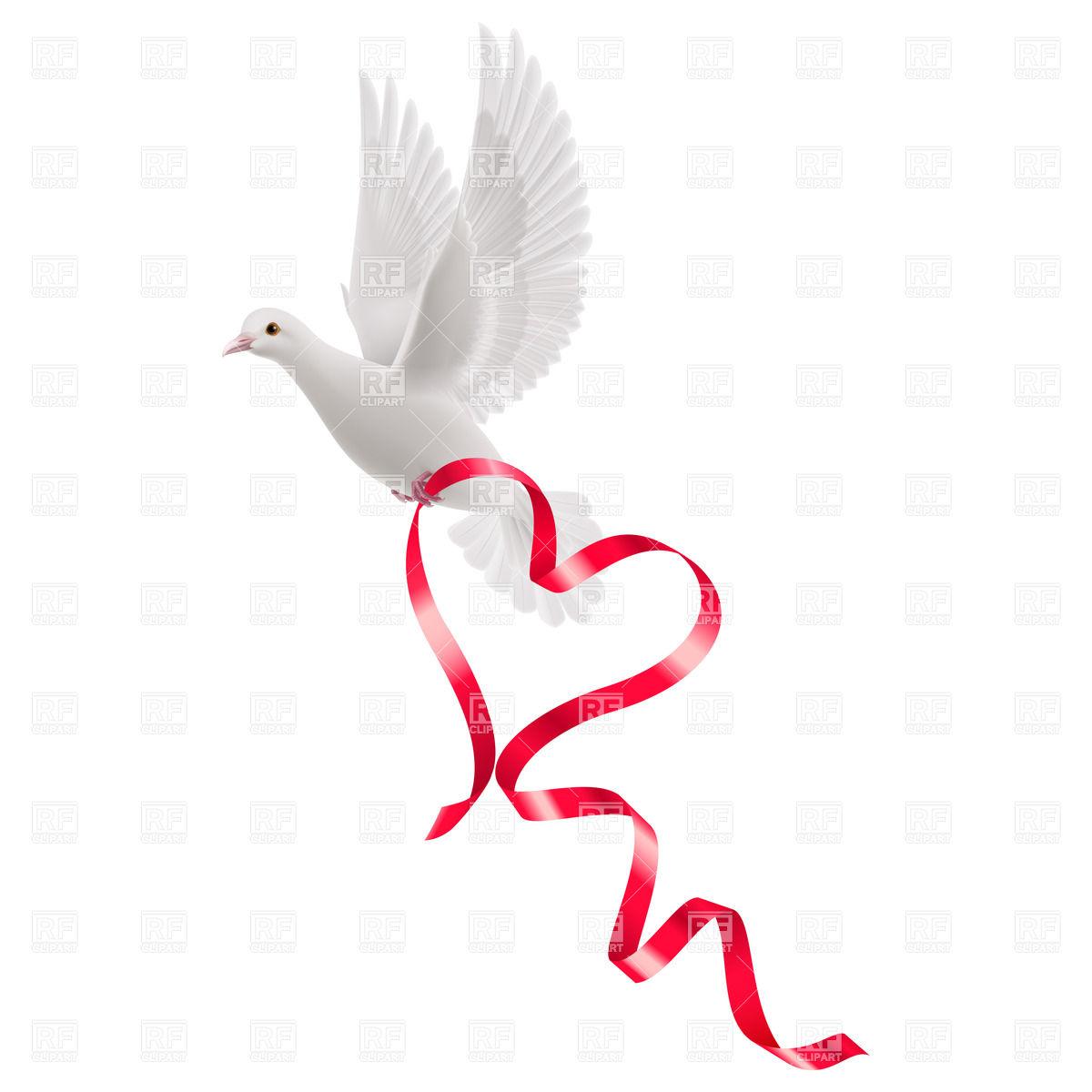 Dove ribbon clipart graphic library Dove with ribbon clipart 7 » Clipart Station graphic library