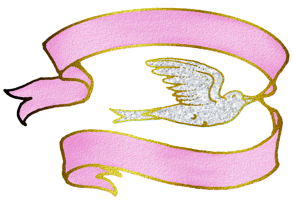 Dove ribbon clipart graphic black and white library Dove With Pink Ribbon Png By Clipartcotttage On DeviantART - Clip ... graphic black and white library