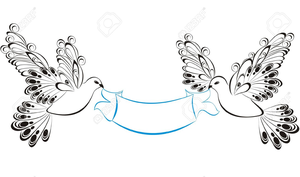 Dove ribbon clipart image stock Dove And Ribbon Clipart | Free Images at Clker.com - vector clip art ... image stock