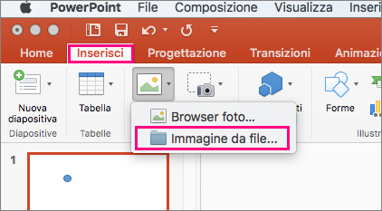 Dove sono le ClipArt in PowerPoint 2016 per Mac? - PowerPoint for Mac image stock
