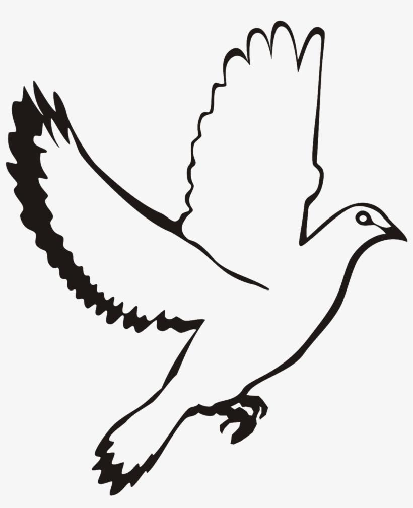 White dove in flight clipart clip art transparent library White Flying Dove Clipart - White Dove Vector Png Transparent PNG ... clip art transparent library