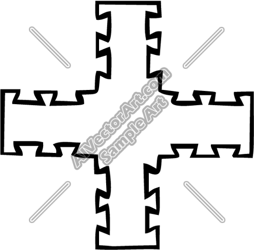 Dovetail clipart vector free library DOVETAIL Clipart and Vectorart: Religious - Crosses Vectorart and ... vector free library