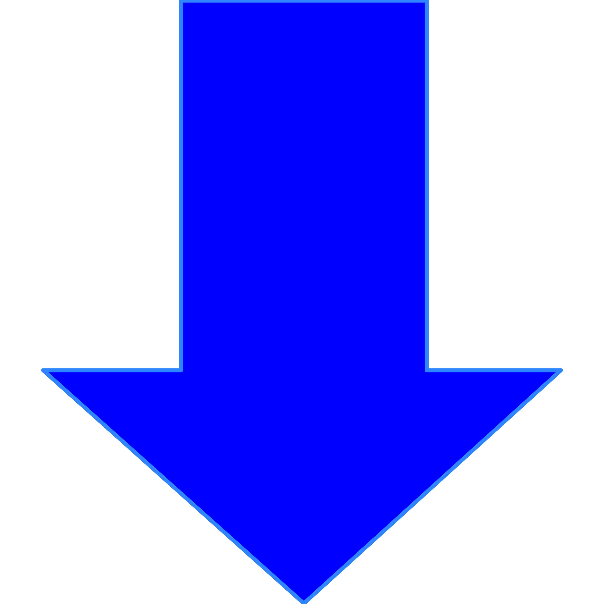 Clipart - Arrow in blue svg library