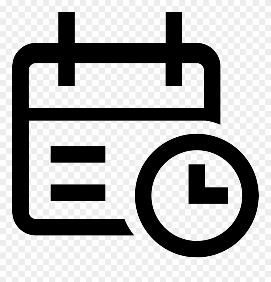 Time icon clipart svg black and white download Calendar Time Svg Png Icon Free Download Clipart (#2338332) - PinClipart svg black and white download