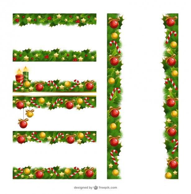 Christmas borders pack Vector | Free Download freeuse download