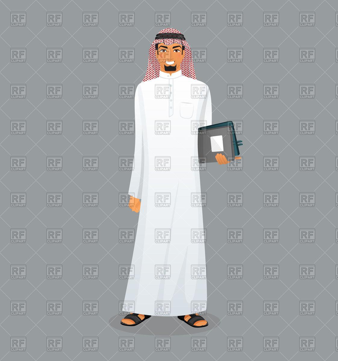 Download clipart arabic vector freeuse Arabic man Vector Image #61796 – RFclipart vector freeuse