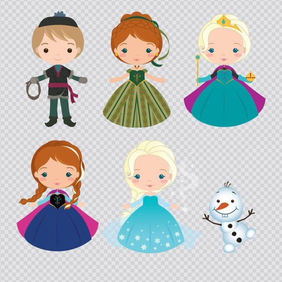 Frozen - The Snow Queen Clipart Set - Instant Download - PNG Files ... vector free download