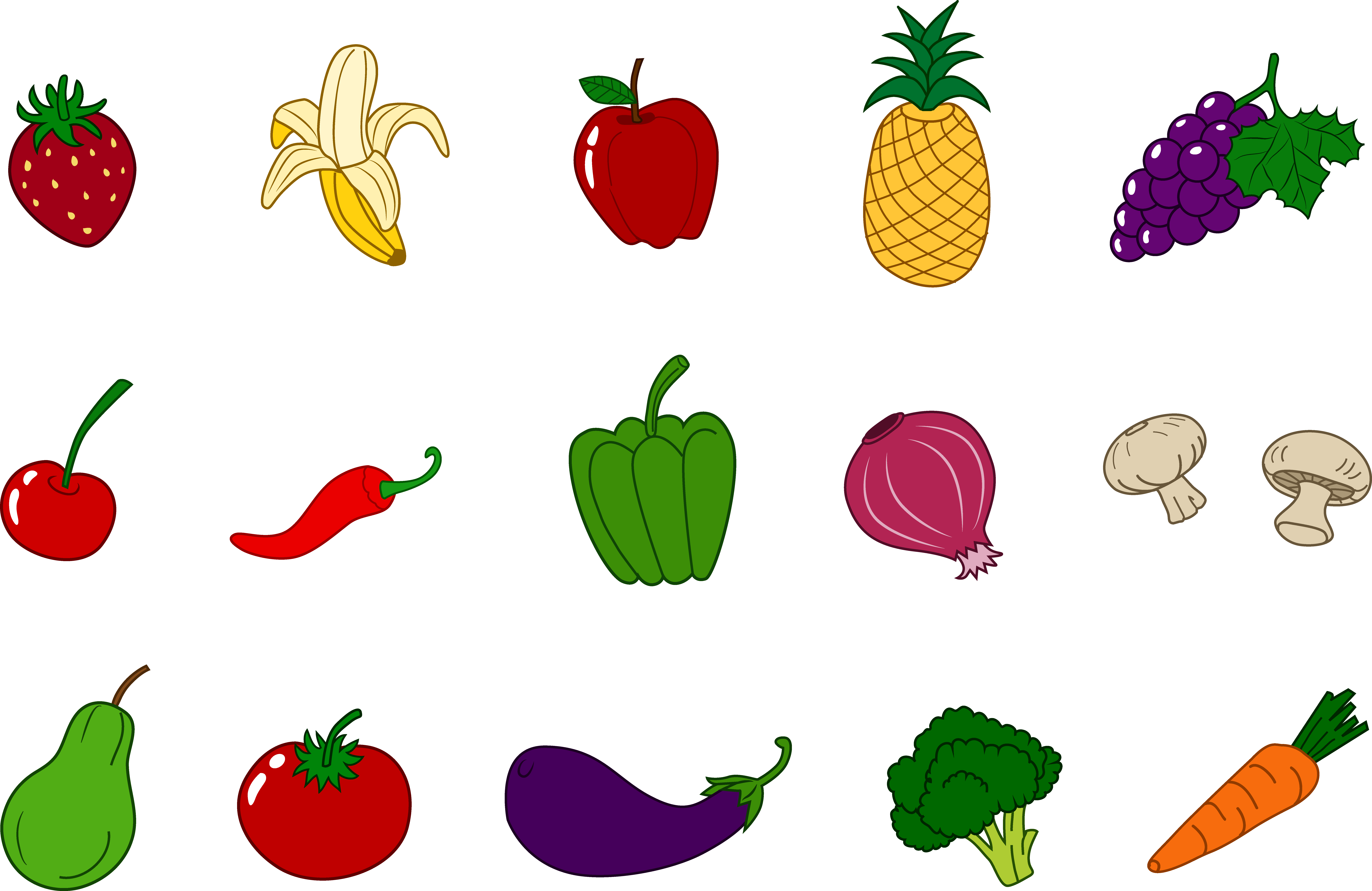 Free download of clipart images clipart freeuse library Clip Art Fruits And Veggies Clipart clipart freeuse library